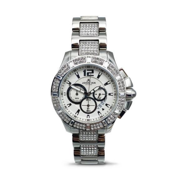 JOHN IAN New York Chrono Quartz Steel Watch